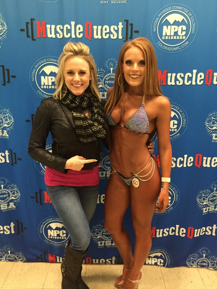 My coach Jessi and I at the NPC Southern Colorado.